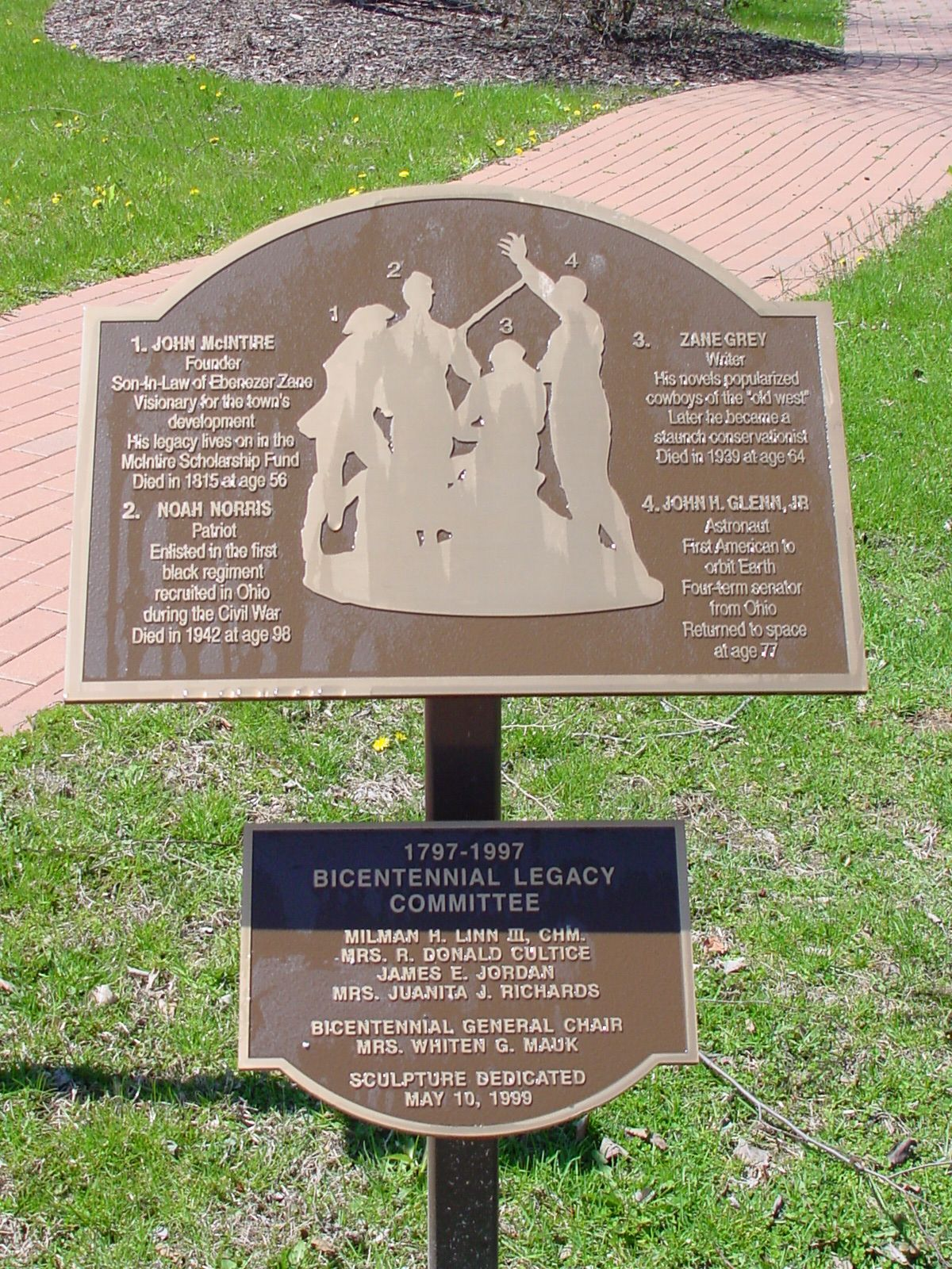 The Bicentennial Legacy Monument Marker
