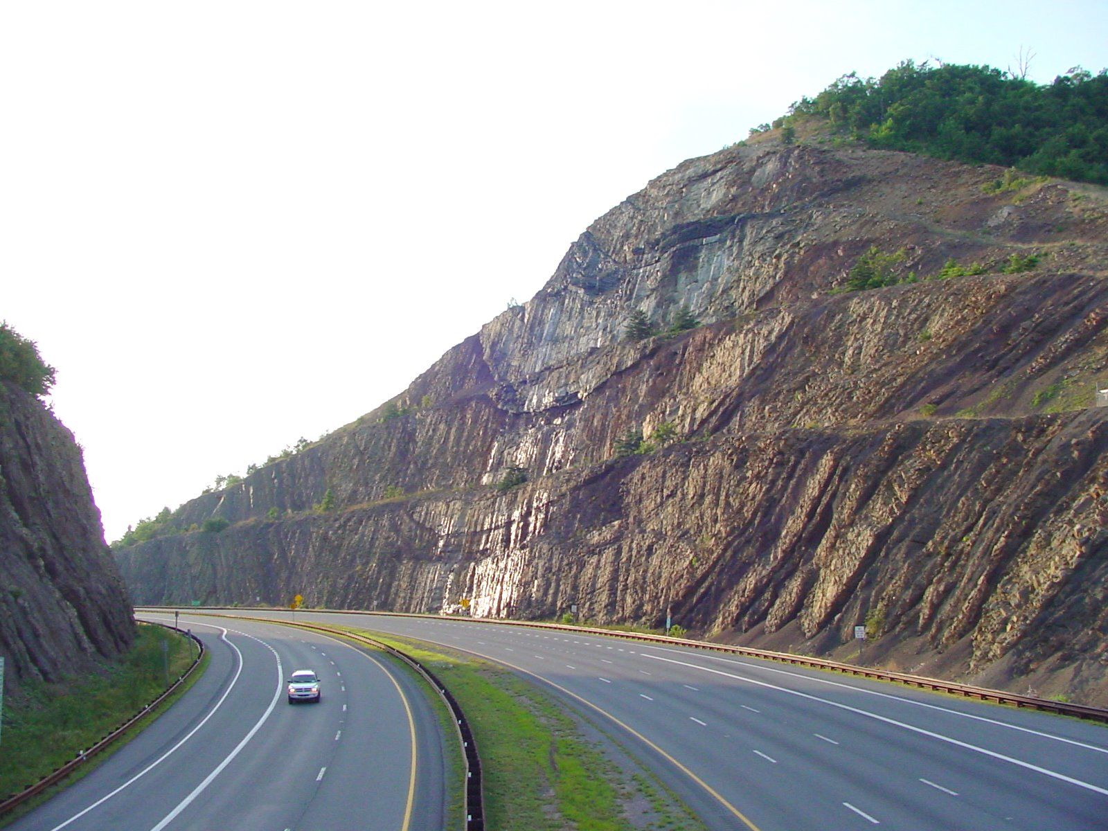 Interstate 68 Cut Through Sideling Hill Mountain