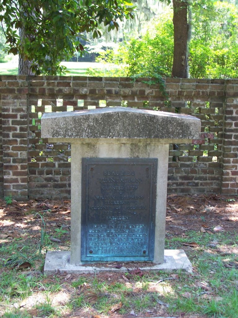Beaulieu Plantation Marker