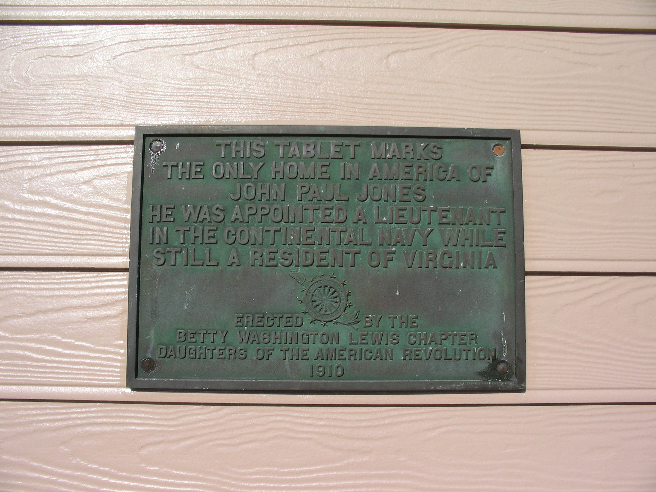 John Paul Jones House Marker