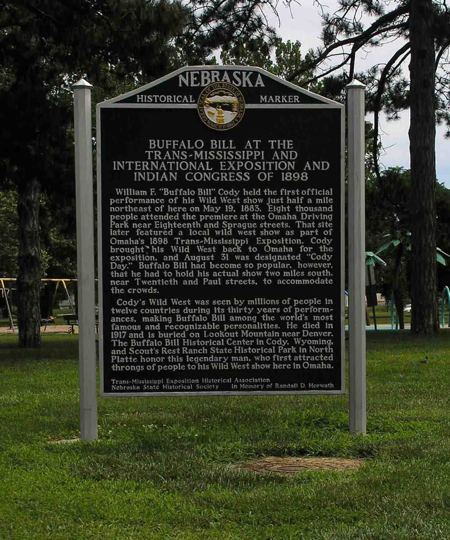 Buffalo Bill at the Trans-Mississippi and International Exposition and Indian Congress of 1898 Marker