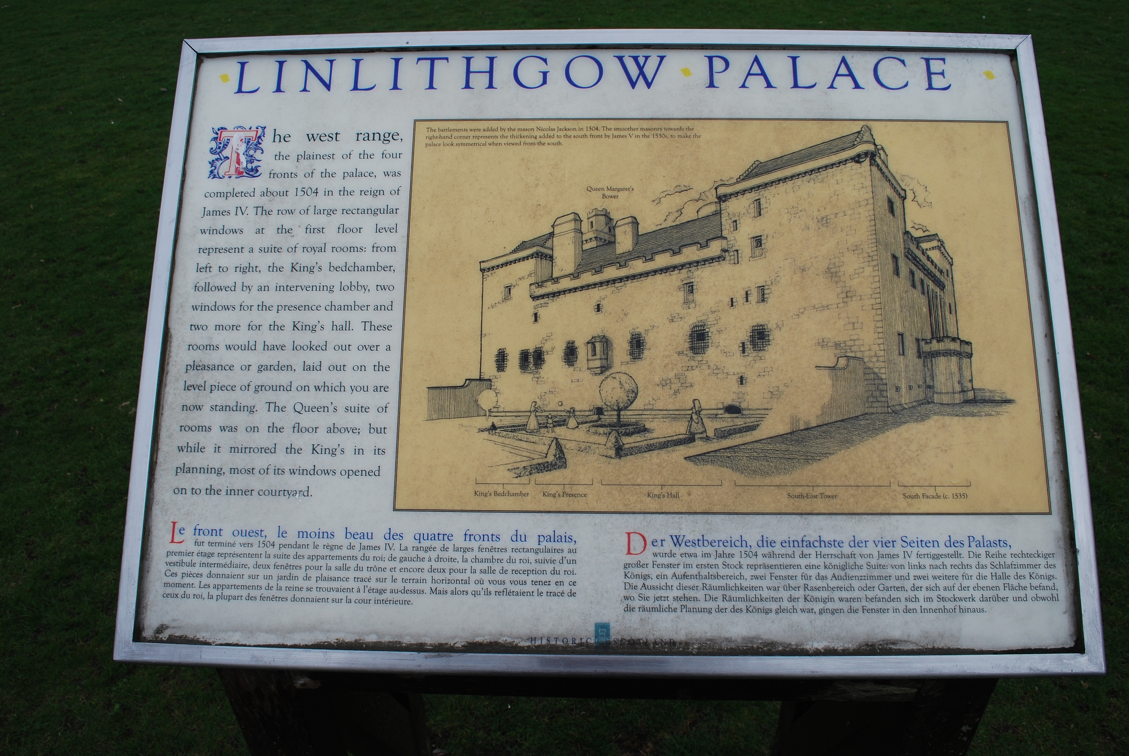 Linlithgow Palace Marker
