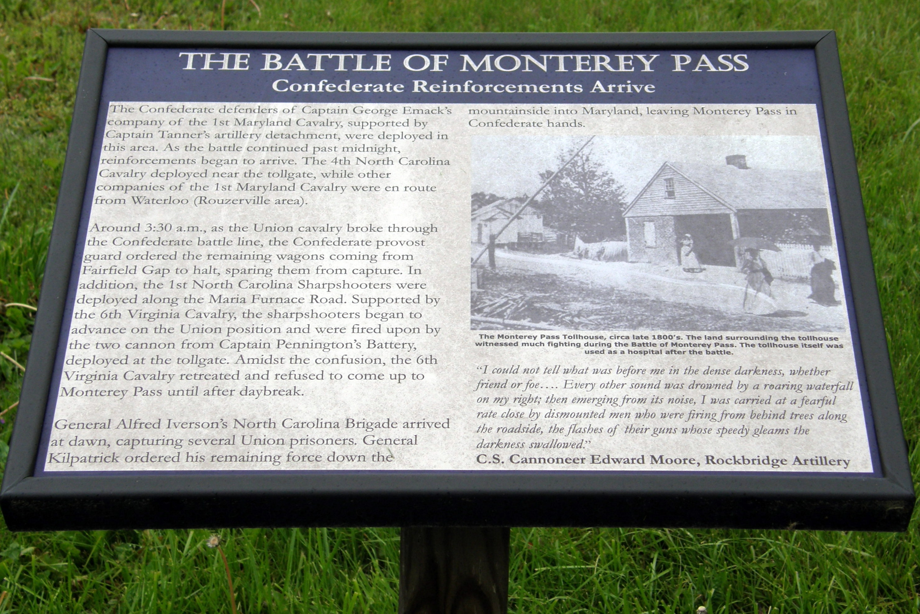 The Battle of Monterey Pass Marker