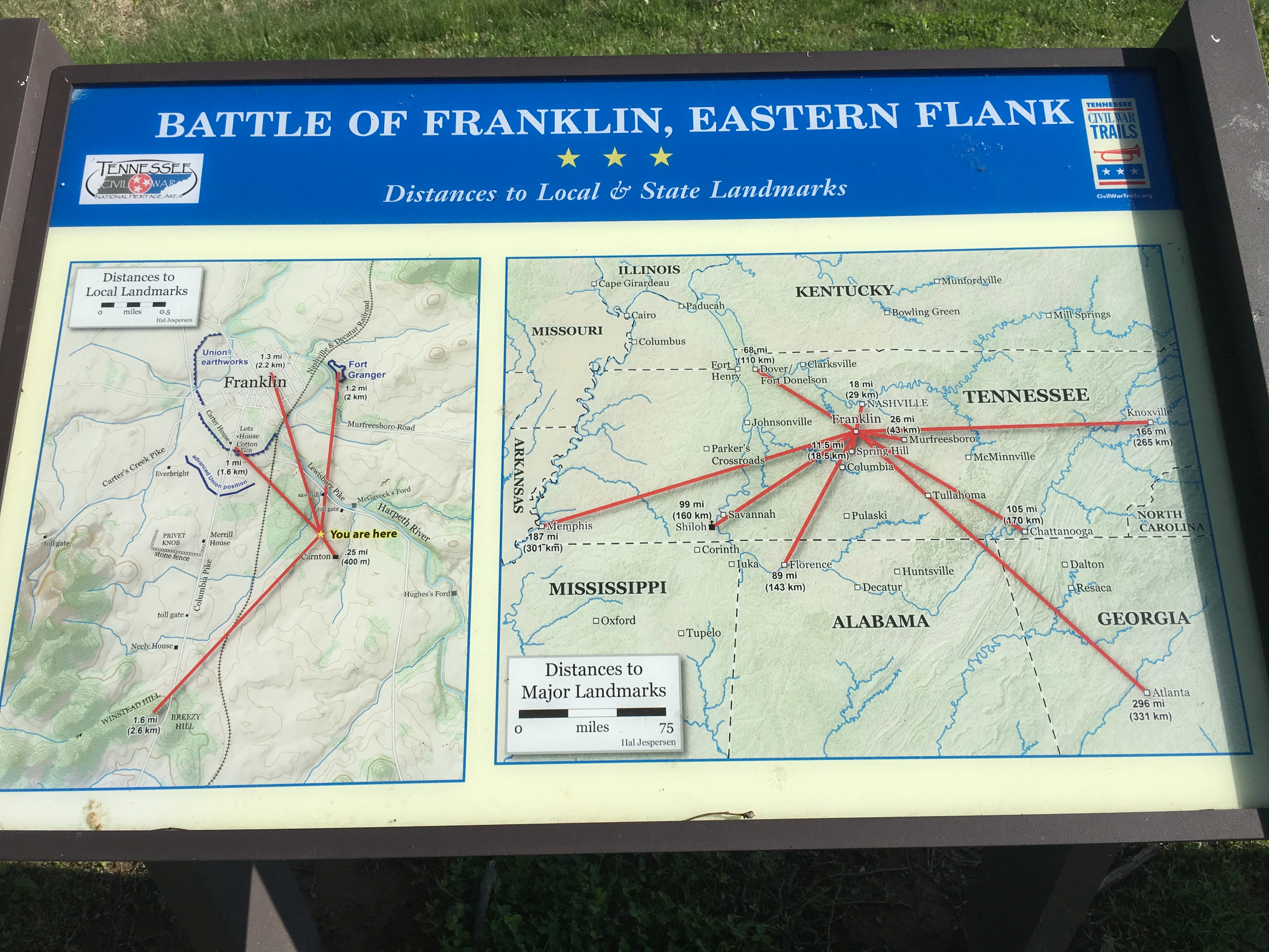 Battle of Franklin, Eastern Flank Marker