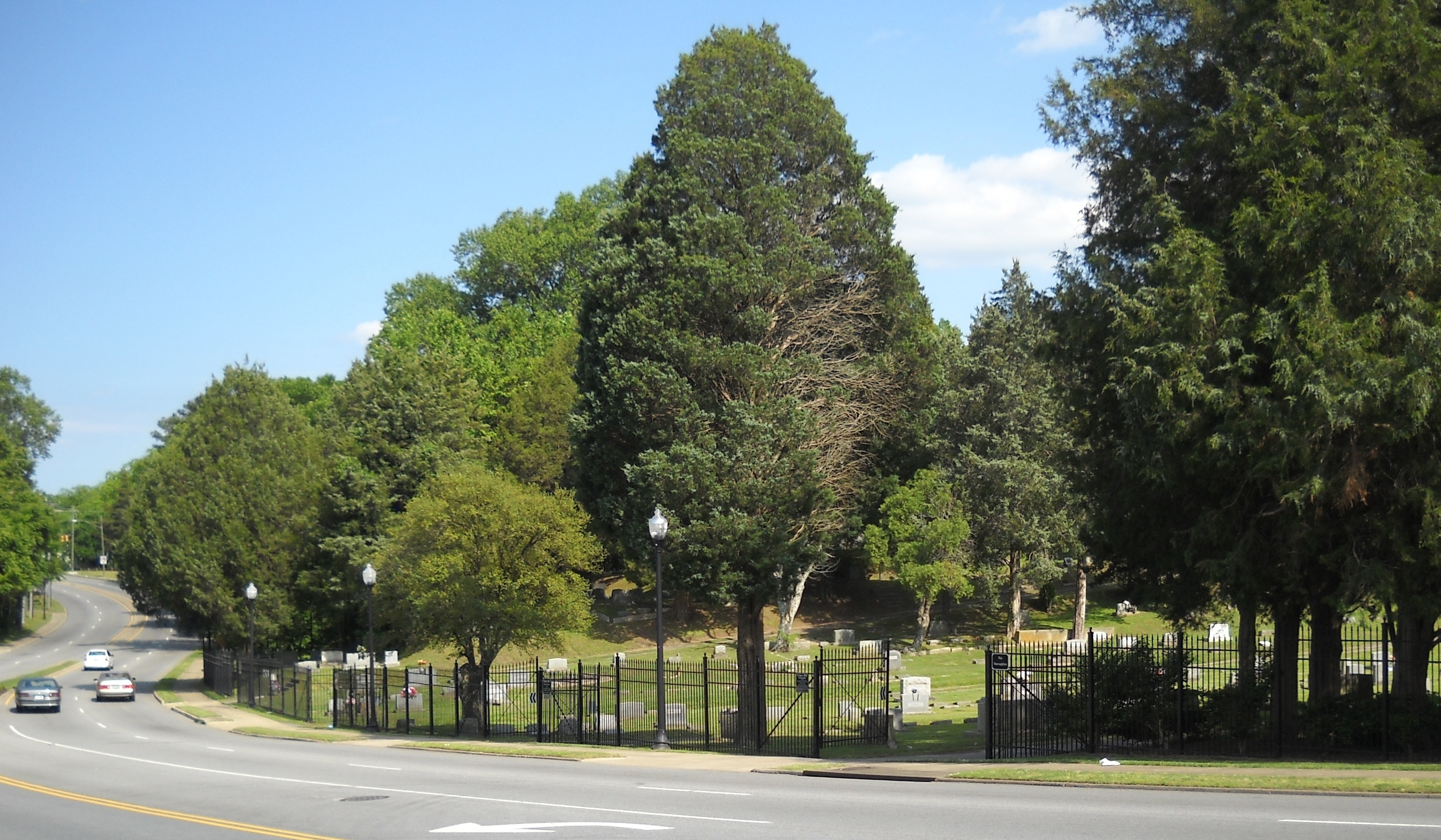 This is the north side of Cedar Hill Cemetery.